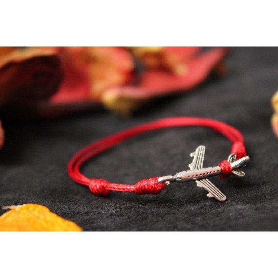Браслет ручной работы Красная нитка Airbus