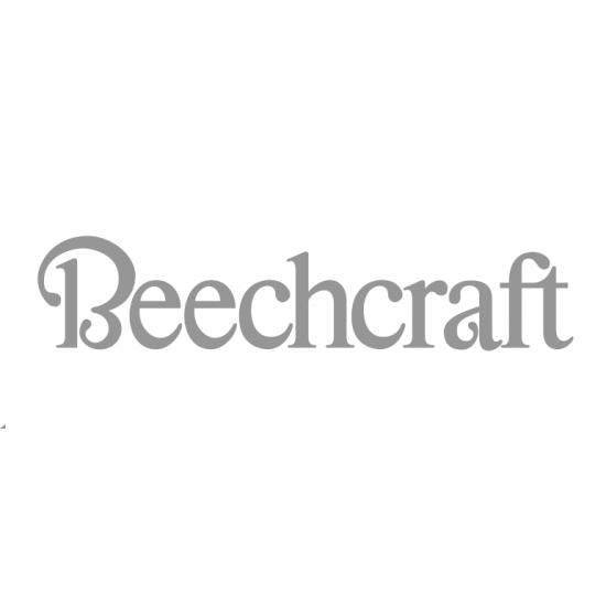 Наклейка виниловая Beechcraft (10х34см) Белая