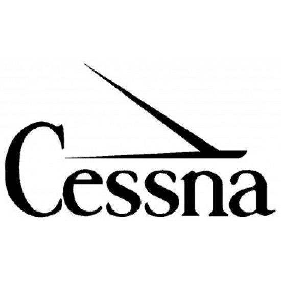 Наклейка виниловая Cessna (15х26,5см) Черная