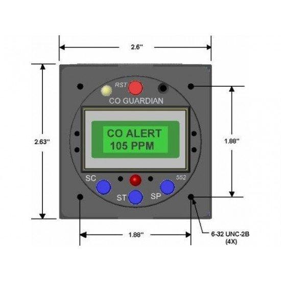 Детектор угарного газа Guardian Aero 553 многофункциональный
