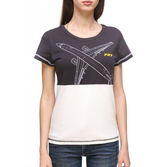 Футболка авиационная Agent's Clothes Boeing 737 женская