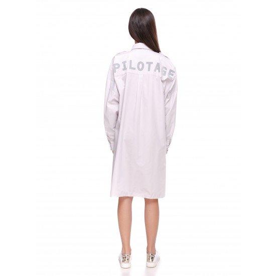 Рубашка авиационная Pilotage Oversize женская