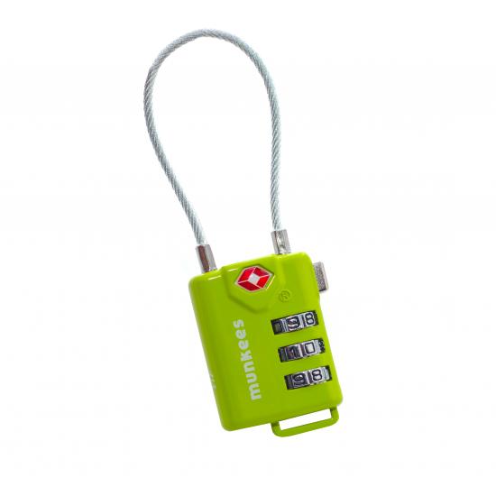 Брелок-замок авиационный Munkees 3609 Cable Combi Lock