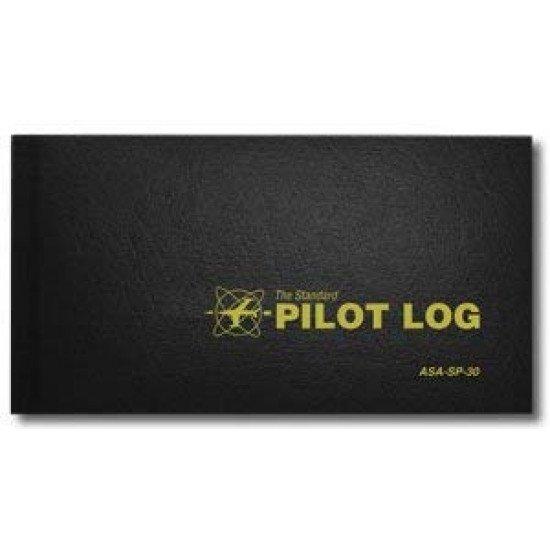 Книжка лётная ASA STANDARD PILOT LOG HRDCVR BLACK