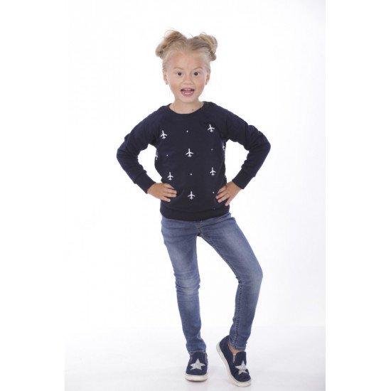Свитшот авиационный детский Agent's Clothes женский синий