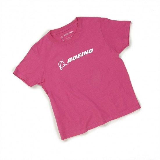 Футболка авиационная BOEING Pink детская