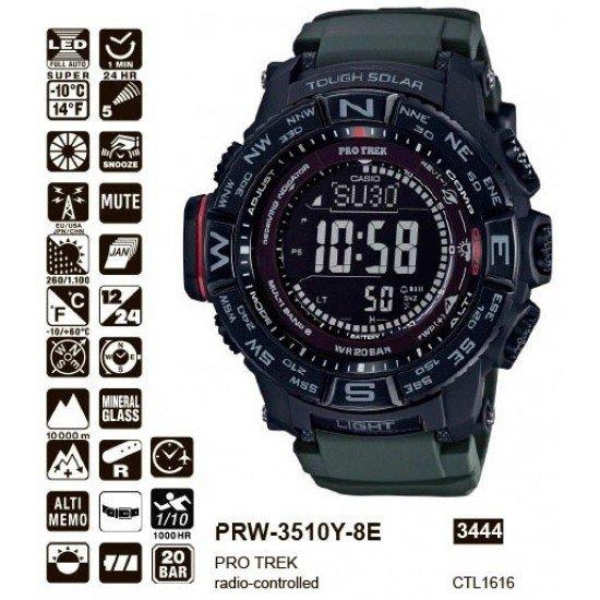 Часы пилота Casio Pro-trek PRW-3510Y-8ER