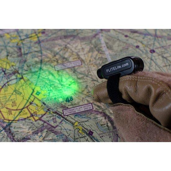 Фонарь авиационный FLITELITE FINGER LIGHT зеленый