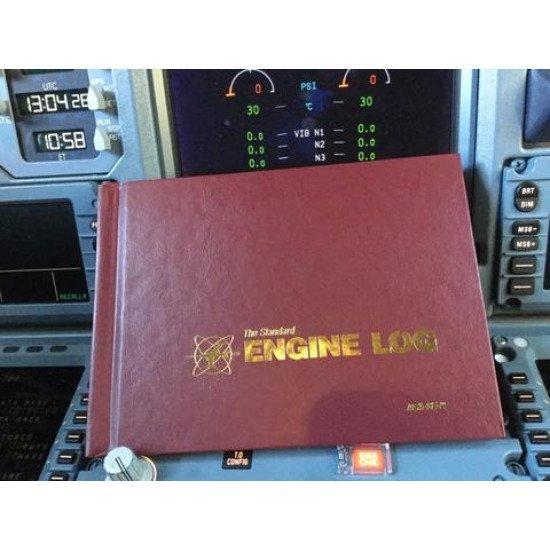 Книга учёта ТО двигателя ВС Engine Log Hardcove