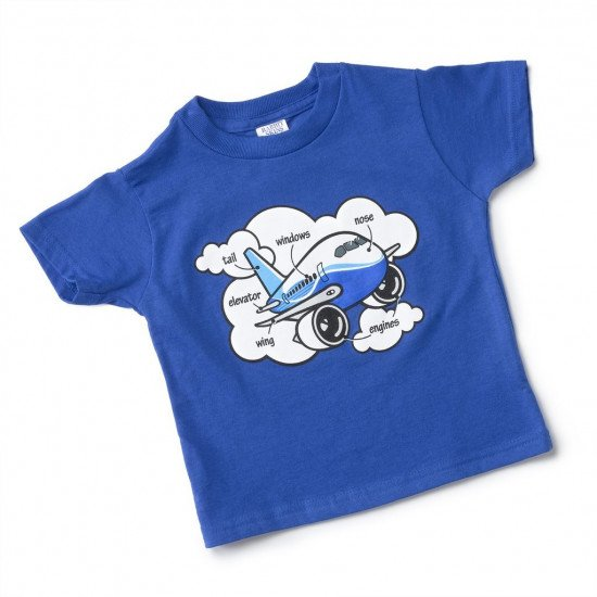 Футболка детская BOEING TODDLER AIRPLANE PARTS T-SHIRT