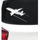 Наклейка на автомобиль авиационная Plane Taking Off