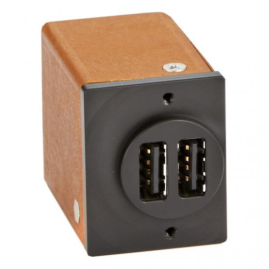 Бортовое зарядное устройство Panel Mount Dual 2.7 USB Plug (circle)