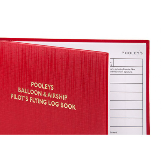 Книжка лётная Pooleys Balloon & Airship Pilots Log Book