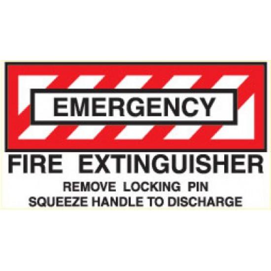 Наклейка авиационная FIRE EXTINGUISHER