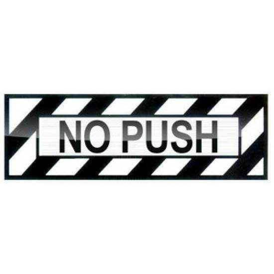 Наклейка авиационная NO PUSH SOFT ALUM DECAL