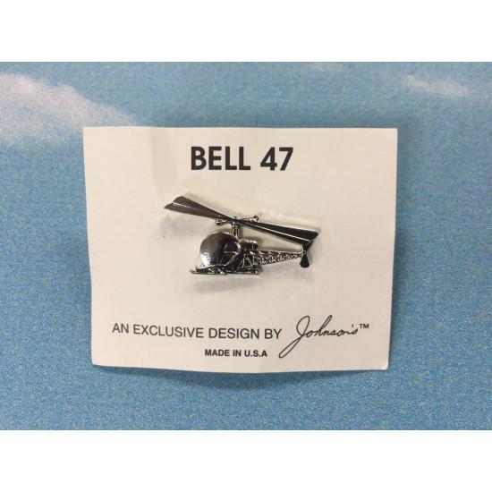 Значок авиационный BELL 47 SILVER