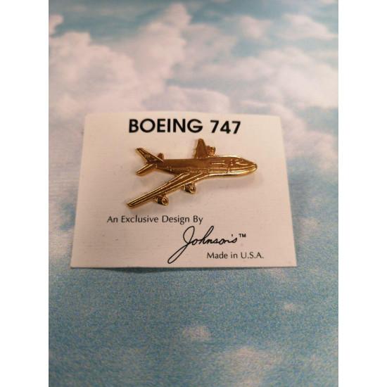 Значок авиационный BOEING 747 GOLD 2