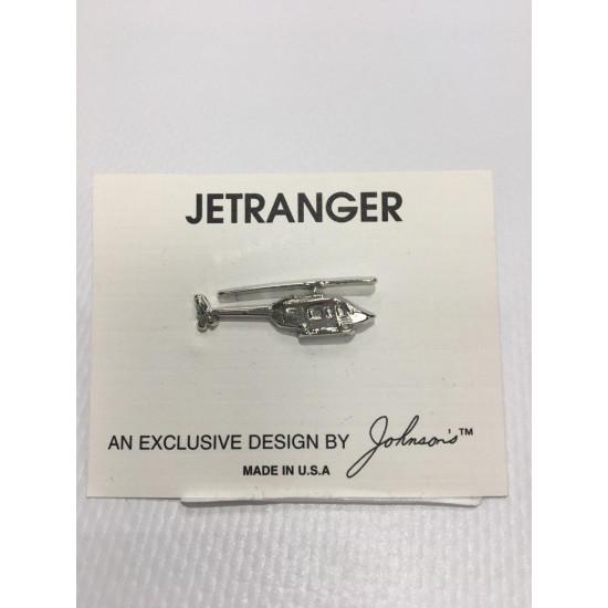 Значок авиационный JETRANGER SILVER
