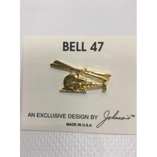 Значок авиационный BELL 47 GOLD
