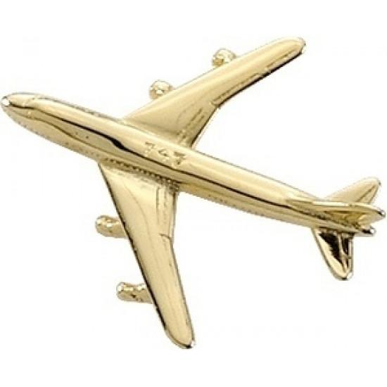 Значок авиационный BOEING 747 GOLD