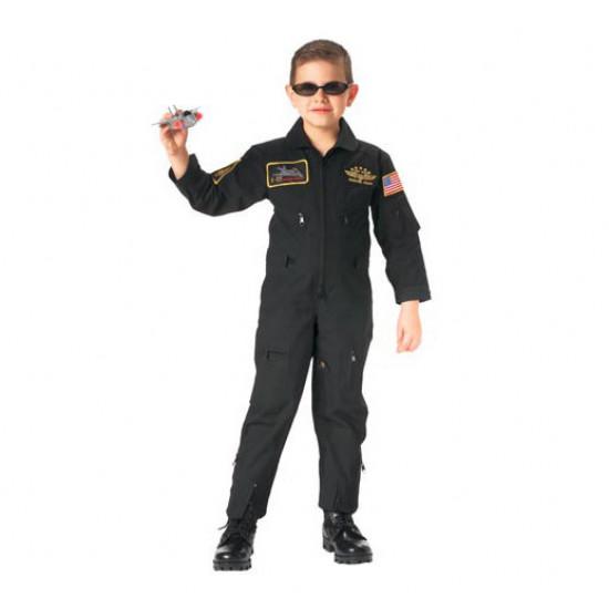 Комбинезон летный детский JUNIOR G.I. KIDS BLACK TOP GUN FLIGHT SUIT LARGE