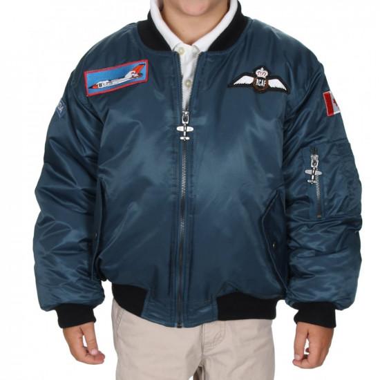 Куртка авиационная  RCAF BLUE FLIGHT JACKET 4 PATCH детская