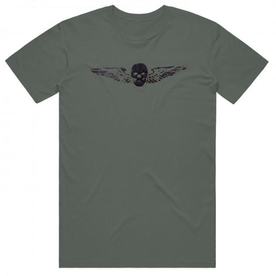 Футболка авиационная Skull and Wings мужская