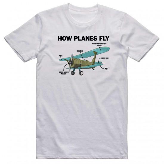 Футболка авиационная AEROSPACE How Planes Fly