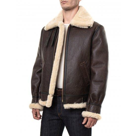 Куртка авиационная US WINGS B-3 Shearling Bomber Jacket мужская