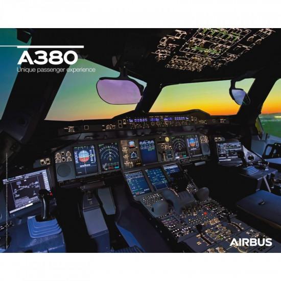 Плакат авиационный A380 Cockpit View