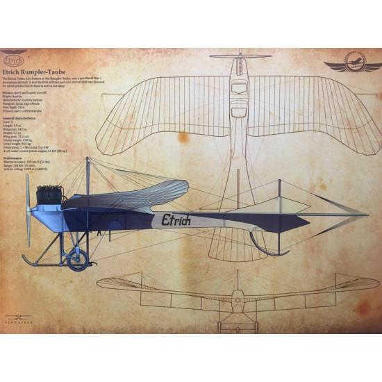 Постер авиационный Epich в рамке 51x39 см
