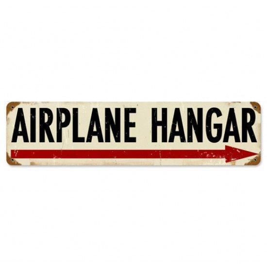 Знак авиационный AIRPLANE HANGAR металлический
