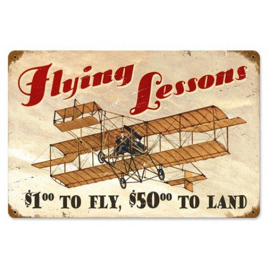 Знак авиационный FLYING LESSONS металлический