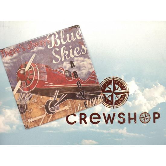 Знак авиационный Blue Skies металлический
