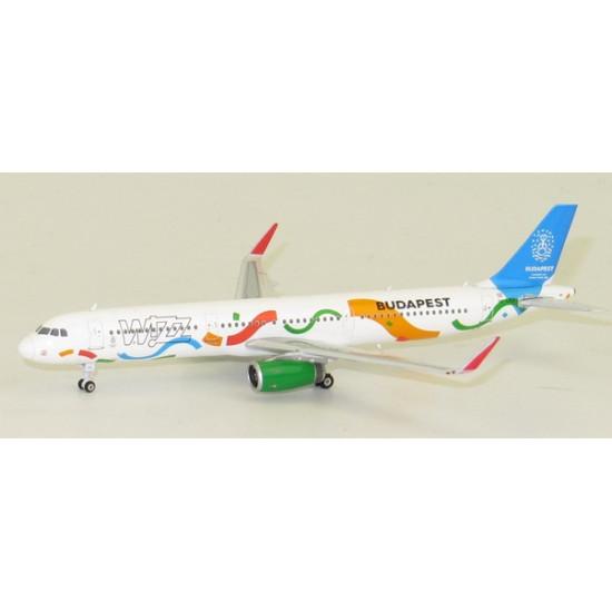 Модель самолета AIRBUS A321 WIZZ AIR HA-LXJ BUDAPEST 2020