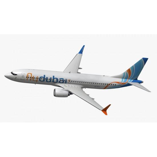 Модель самолета Boeing 737-MAX8 FlyDubai 1:144