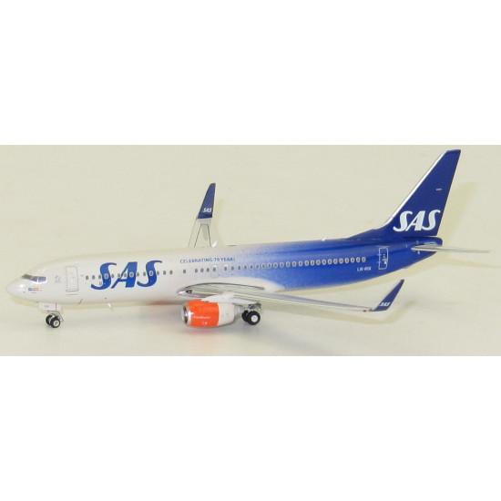 Модель самолета BOEING 737-800 SAS SCANDINAVIAN AIRLINES «CELEBRATING 70 YEARS» LN-RG