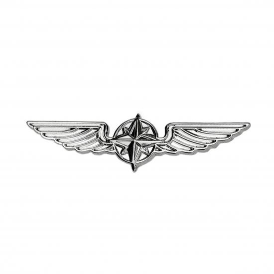 Значок авиационный PILOT WINGS silver 5cm