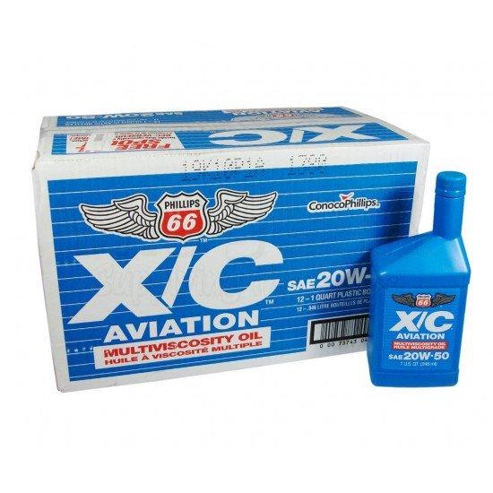 Авиационное масло  Phillips 66 X/C 20W-50 Multiviscosity Aircraft Engine Oil - 12 Quart/Case
