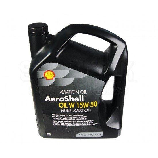 Авиационное масло AeroShell Oil W 15W-50 Multigrade Aircraft Engine Oil - 5 Liter Jug