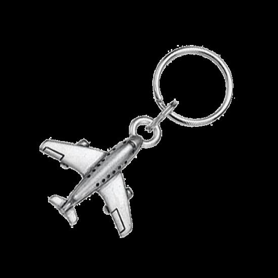 Брелок Самолет, оловянный