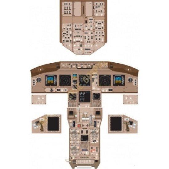 Кабина Boeing 777 cockpit poster
