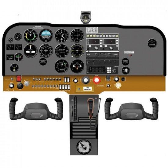 Кабина Cessna C172N cockpit poster