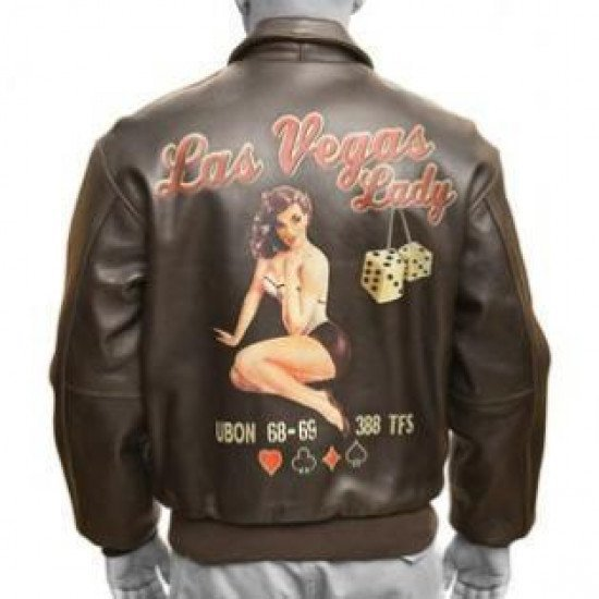 Куртка авиационная Las Vegas Lady Good Luck Pin-Up A-2 Leather Jacket мужская