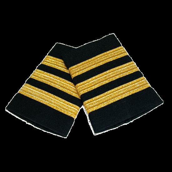 Погоны гражданской авиации, 3 полосы (Gold)