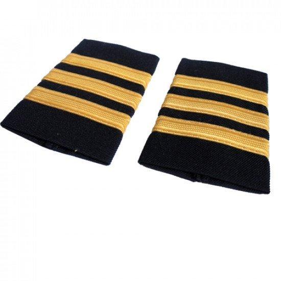 Погоны гражданской авиации, 3 полосы (Yellow mat)