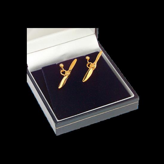 Сережки-винты авиационные Gold