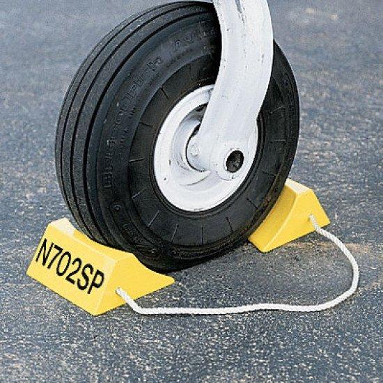Упорные колодки / Personalized Aluminum Wheel Chocks - Safety Yellow (pair)