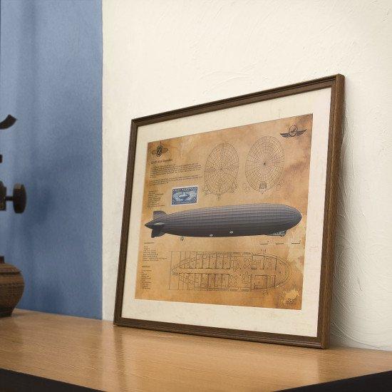 """Картина авиационная """"Graf Zeppelin"""" LZ-127 винтажная"""