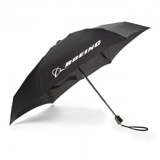 "Зонт ""Boeing"" (Черный) / Super-Slim Mini-Umbrella"
